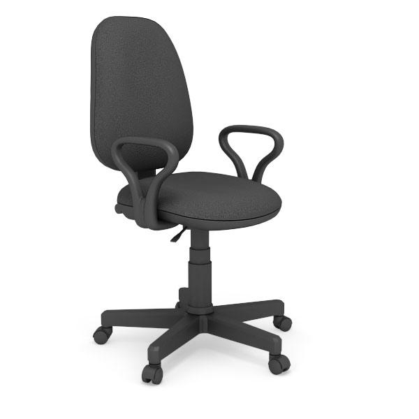 Кресло рабочее на роликах/ткань